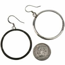 Navajo Black Hoop Earrings 19649