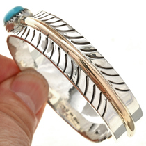 Old Silver Feather Native American Cuff 28276