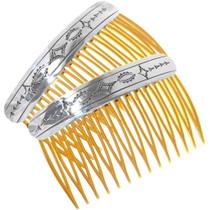 Santa Fe Silver Hair Combs 19654