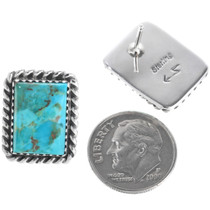 Native American Turquoise Post Earrings 28521