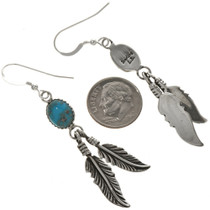 Genuine Turquoise Dangle Earrings 29400