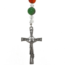 Southwest Gemstone Rosary Necklace 21562