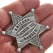 Old West Silver Star Badge 29006