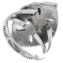 Native American Inlaid Silver Ring 27075