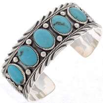 Silver Turquoise Cuff Navajo 27324