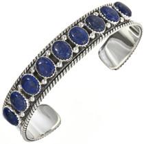 Lapis Gemstone Silver Cuff 29126