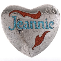 Customizable Heart Belt Buckle 28279