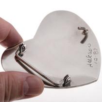 Hand Hammered  Silver Belt Buckle 28279