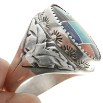 Native American Inlaid Mens Ring 28465