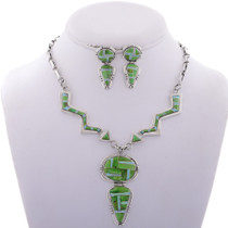 Inlaid Gaspeite Opal Arrow Necklace Set 28000