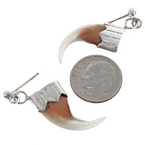 Bobcat Claw Navajo Regalia Earrings 23618