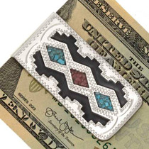 Navajo Rug Pattern Turquoise Money Clip 21040
