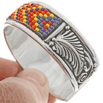 Seed Beaded Silver Bracelet 26851