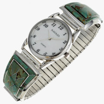 Inlaid Turquoise Mens Watch 24485