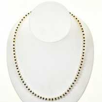 Native American Opal Black Spinel Bead Necklace 28708