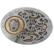 Gold Silver Belt Buckle 27446