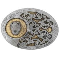 Gold Silver Belt Buckle 27446