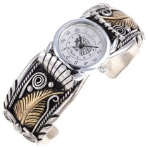 Native Gold Silver Watch Bracelet 24489