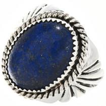 Navajo Lapis Silver Mens Ring 22354