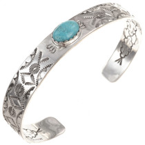 Handhammered Turquoise Cuff Bracelet 23549