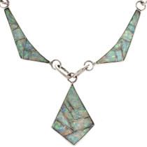 Zuni Style Inlaid Opal Choker 15169