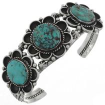 Three Stone Turquoise Cuff Bracelet 21089