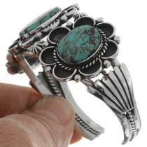 Sterling Silver Turquoise Navajo Cuff 21089