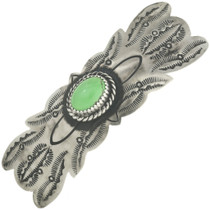 Silver Green Turquoise Barrette 29360