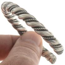 Navajo Twist Wire Silver Bracelet 27776
