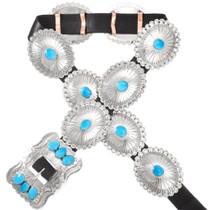 Sleeping Beauty Turquoise Concho Belt 22955