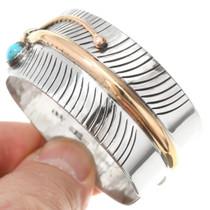 Turquoise Gold Silver Bracelet 27399