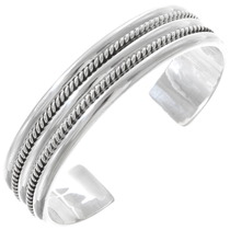 Navajo Silver Wire Cuff Bracelet 20688