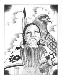Eagle Spirit Native American Print 17210