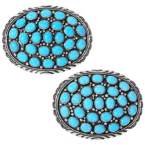 Turquoise Cluster Belt Buckles 24413