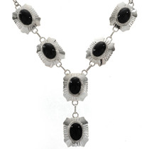 Hammered Silver Y Necklace 27735