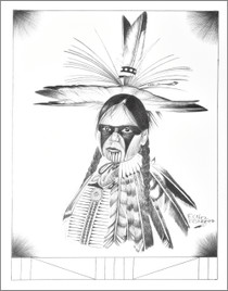 Native American Boy in Regalia Print 17214