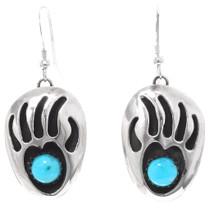 Turquoise Dangle Navajo Earrings 28543