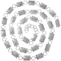 Native American Silver Link Concho Belt 24683