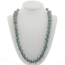 Mercury Dime Turquoise Navajo Necklace 27742