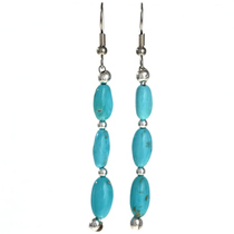 Natural Kingman Turquoise Silver Earrings 29031