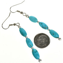 Natural Untreated Turquoise Earrings 29031