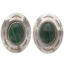 Green Malachite Cuff Links 19613