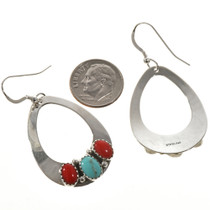 Navajo Teardrop Sterling Earrings 28827