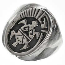Mens Ring Hopi Turtle Pattern 29702
