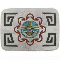 Hopi Sunface Belt Buckle 27350
