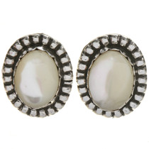 Navajo Mother of Pearl Silver Earrings 28621