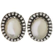Navajo Mother of Pearl Silver Earrings 28621