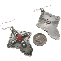 Santa Fe Style Hammered Silver Cross Earrings 28849