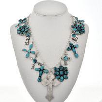 Turquoise Silver Navajo Necklace