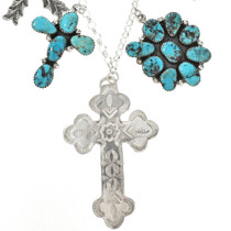 Bisbee II Turquoise Cross Necklace 29241